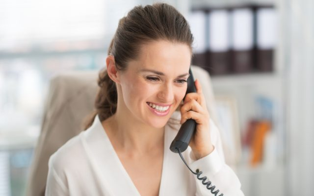 How can I help you today? An elegant woman greets her caller with a smile and a kind voice.